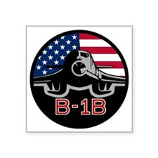 "B-1B Bone Square Sticker 3"" x 3"""