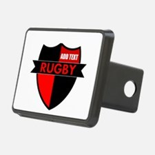 Rugby Shield Black Red Hitch Cover