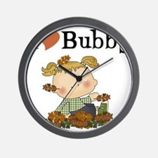 Autumn Girl I Love Bubby Wall Clock