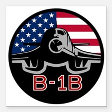 "B-1B Bone Square Car Magnet 3"" x 3"""