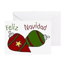Feliz Navidad Ornament Greeting Card