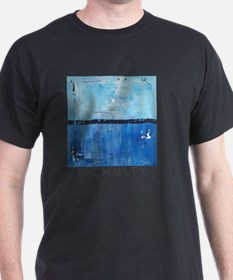 Shiver Abstract Blue Art McNulty T-Shirt