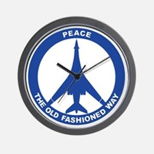 B-1B - Peace The Old Fashioned Way Wall Clock