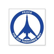 "B-1B - Peace The Old Fashio Square Sticker 3"" x 3"""