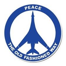 B-1B - Peace The Old Fashioned Wa Round Car Magnet