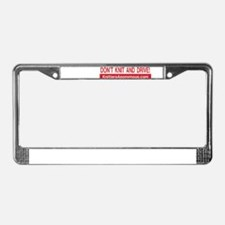 Cool Yarnaholic License Plate Frame