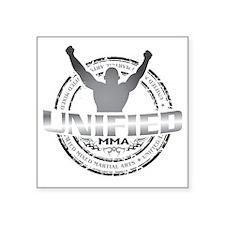 "Unified MMA Logo Final - fu Square Sticker 3"" x 3"""
