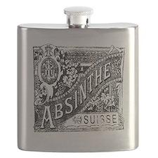 Old Absinthe logo Flask