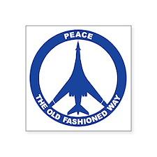 "B-1B - Peace The Old Fashio Square Sticker 3"" x 3"""