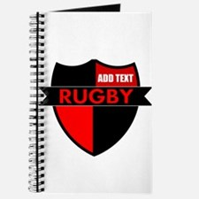 Rugby Shield Black Red Journal