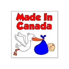 "Made In Canada Boy Square Sticker 3"" x 3"""