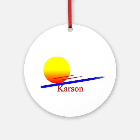 Karson Ornament (Round)