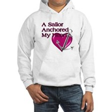 A Sailor Anchored My Heart Hoodie