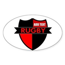 Rugby Shield Black Red Decal