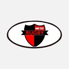 Rugby Shield Black Red Patches
