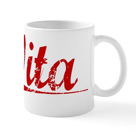 Vita, Vintage Red Mug