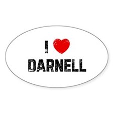 I * Darnell Oval Decal