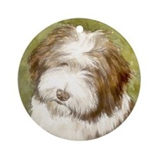 Bearded Collie Ornament (Round)