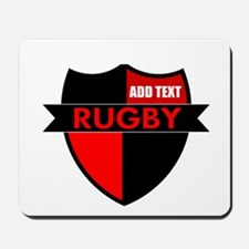 Rugby Shield Black Red Mousepad