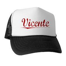 Vicente, Vintage Red Trucker Hat