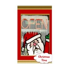 Santas open for Business Decal