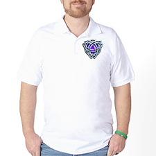 Naumadds Triquetra - Silver  Purple T-Shirt