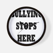 Bullying Stops Here Wall Clock