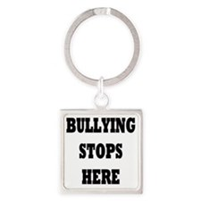 Bullying Stops Here Square Keychain