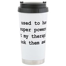 Funny Super Powers Travel Mug