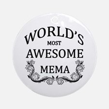 World's Most Awesome Mema Ornament (Round)