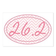 26.2 Pink Chevron Postcards (Package of 8)