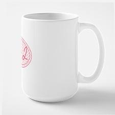 26.2 Pink Chevron Large Mug