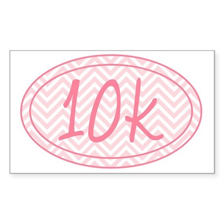 10k Pink Chevron Sticker (Rectangle)