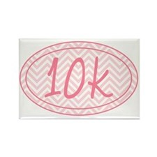 10k Pink Chevron Rectangle Magnet