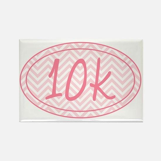 10k Pink Chevron Rectangle Magnet
