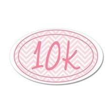 10k Pink Chevron 35x21 Oval Wall Decal