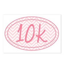 10k Pink Chevron Postcards (Package of 8)