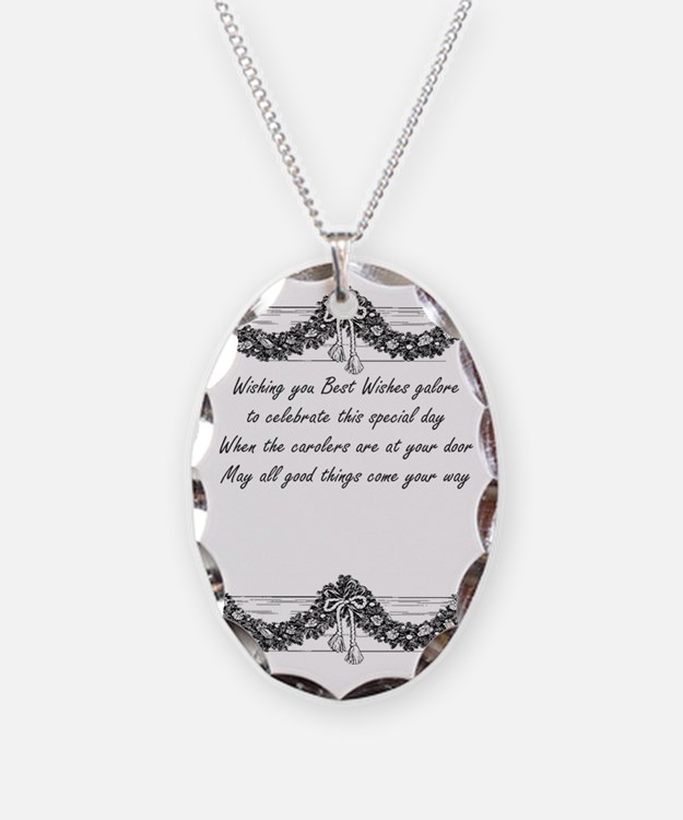 Christmas poem Necklace