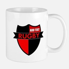 Rugby Shield Black Red Mugs