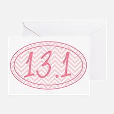 13.1 Pink Chevron Greeting Card