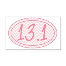 13.1 Pink Chevron Rectangle Car Magnet