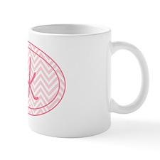 5k Pink Chevron Mug