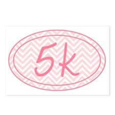 5k Pink Chevron Postcards (Package of 8)