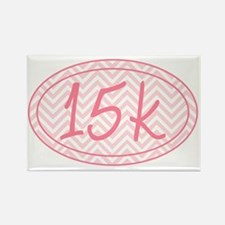 15k Pink Chevron Rectangle Magnet