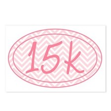 15k Pink Chevron Postcards (Package of 8)