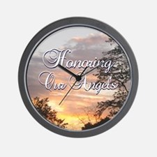 Honoring Our Angels Wall Clock