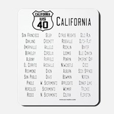 US Route 40 California cities Mousepad