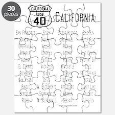 US Route 40 California cities Puzzle