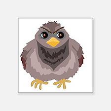 "Fluffy Pigeon Square Sticker 3"" x 3"""