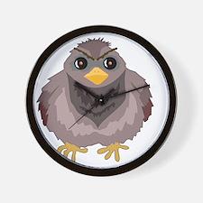 Fluffy Pigeon Wall Clock